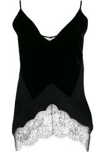 Givenchy Blusa Com Detalhe De Renda - Preto