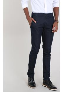 Calça Jeans Masculina Slim Chino Azul Escuro