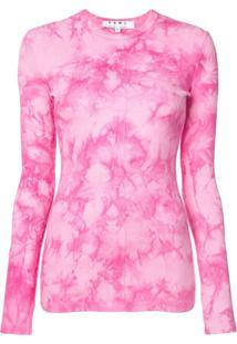 Proenza Schouler Blusa Pswl Tie Dye - Rosa