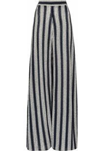 Three Graces Calça Pantalona Philippa - Azul