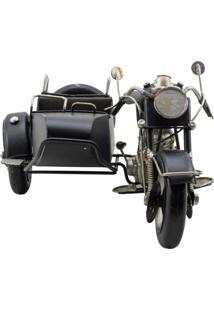 Enfeite Decorativo Minas De Presentes Motocicleta Preto