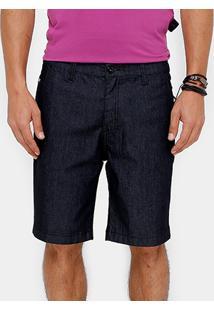 Bermuda Jeans Ellus Bolso Faca Sprout Super Escura Masculina - Masculino