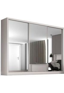 Guarda-Roupa 3 Portas Com Espelho, Branco, Melt