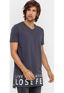 Camiseta Colcci Estampada Alongada Masculina - Masculino