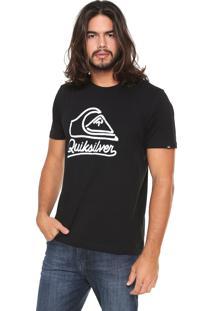 Camiseta Quiksilver Outlines Preta