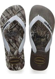 Chinelo Havaianas Game Of Thrones Masculino - Masculino-Cinza+Chumbo