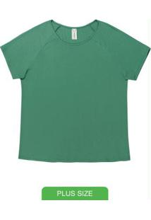 Blusa Em Malha Canelada Verde