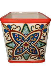 Cachepot Urban Home De Cerâmica Vermelho Tile Vintage Grande N