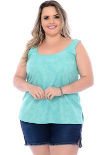 Blusa Plus Size Tie Dye Verde Arimath