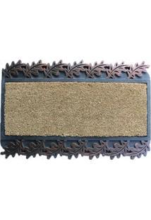 Capacho Fibra Coco Borracha-Leaves Long Bronze 75X45Cm - Unissex