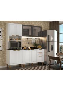 Cozinha Compacta Nevada Iii 8 Pt 3 Gv Branca E Grafite
