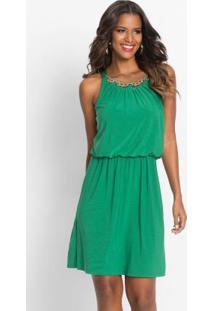 f72b355962 ... Vestido Com Gola De Corrente Verde