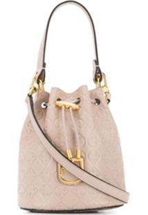 Furla Corona Drawstring Bucket-Bag - Rosa