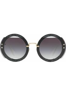 Miu Miu Eyewear Circle Sunglasses - Cinza