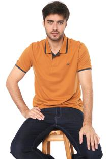 Camisa Polo Hering Reta Básica Caramelo