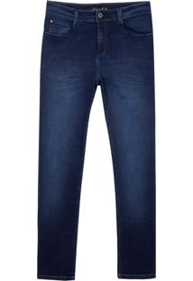 Calca Jeans Dark Blue (Jeans Escuro, 42)