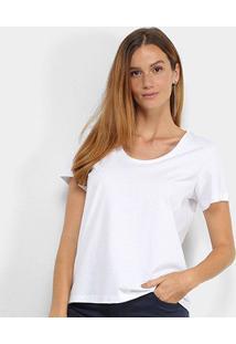 Camiseta Colcci Básica Feminina - Feminino-Branco
