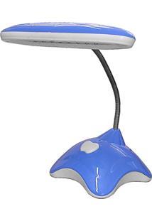 Luminária De Mesa Agoa Polietileno Com Bateria 16 Leds 127V - Azul