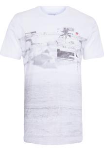Camiseta Masculina Estampa Intenso - Branco