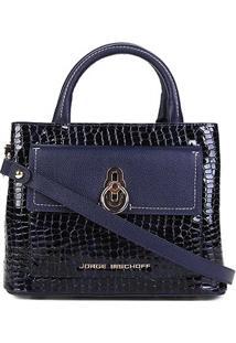 589033c41 ... Bolsa Couro Jorge Bischoff Mini Bag Transversal Feminina - Feminino -Marinho