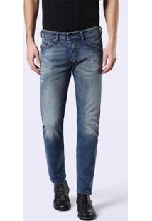 Calça Jeans Diesel Belther Masculina - Masculino-Azul