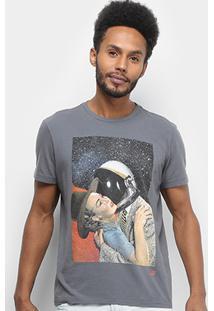 Camiseta Ellus 2Nd Floor Space Romance Masculina - Masculino-Grafite
