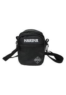 Bolsa Narina Side Bag Tirocolo Logo Refletivo Preta