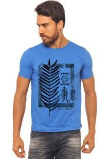 Camiseta Joss - Surf Flor Folha - Masculina - Masculino-Azul