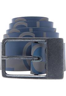 Cinto Colcci Bicolor Cinza/Azul