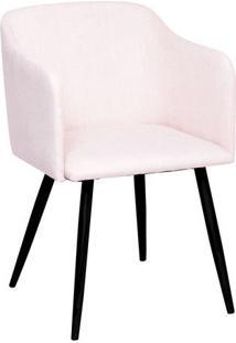 Poltrona Charlote- Bege & Preta- 80X54,5X46Cm- Oor Design