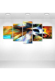 Quadro Decorativo - Abstract12 - Composto De 5 Quadros - Multicolorido - Dafiti
