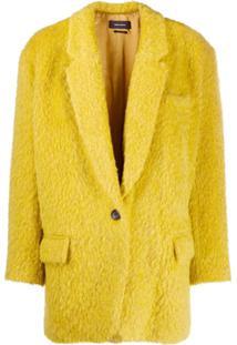Isabel Marant Casaco Texturizado Com Abotoamento Simples - Amarelo