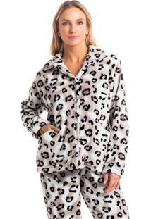 Pijama Amanda Abotoado - Bege/P
