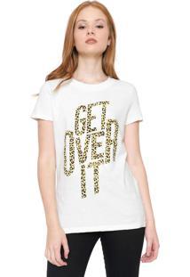 Blusa Calvin Klein Jeans Lettering Amarela
