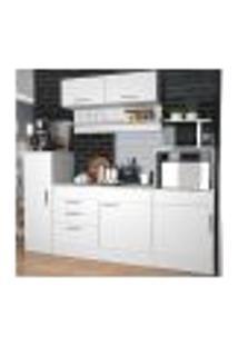 Cozinha Compacta 06 Portas Marajó Cj01 Branco Nova Mobile