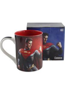Caneca Injustice Superman Vermelho E Preto Zona Criativa