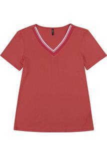 Blusa Feminina Em Malha De Viscose Vermelho
