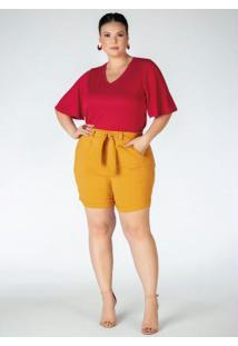 Blusa Plus Size Vermelha