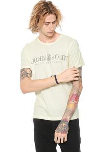 Camiseta John John Lettering Amarela