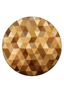 Tapete Love Decor Redondo Wevans Triângulos Amarelo 94Cm