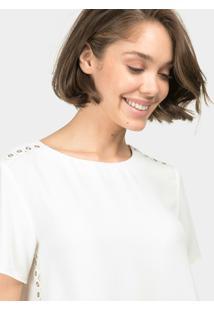 Blusa Com Ilhós Branco Off White - Lez A Lez