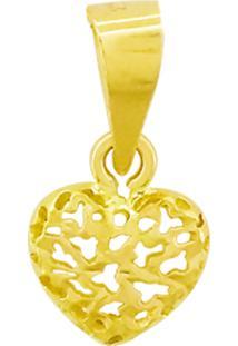 Pingente Ouro 18K Coração Vj7814