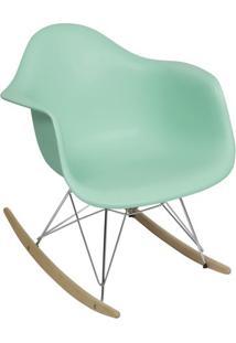 Poltrona Balanã§O Eames- Verde ÁGua & Prateada- 69X63Or Design