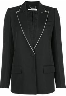 Givenchy Blazer Com Aplicações Na Lapela - Preto