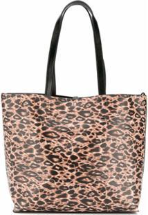 Versace Jeans Couture Bolsa Tote Com Estampa De Leopardo - Preto