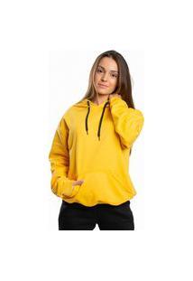 Blusa Moletom Flanelado Dm Damando Amarelo