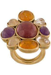 Goossens Cabochons Cocktail Gemstone Ring - Rosa