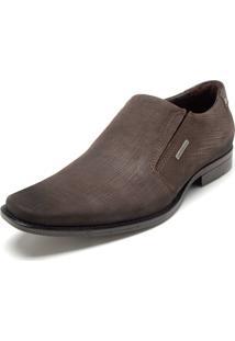 Sapato Social Couro Pegada Liso Marrom