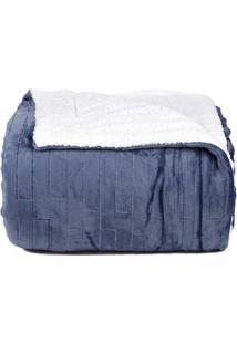 Cobertor Queen Azul