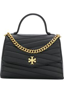 Tory Burch Kira Quilted-Effect Tote Bag - Preto